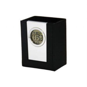 Relógio Digital Porta Canetas